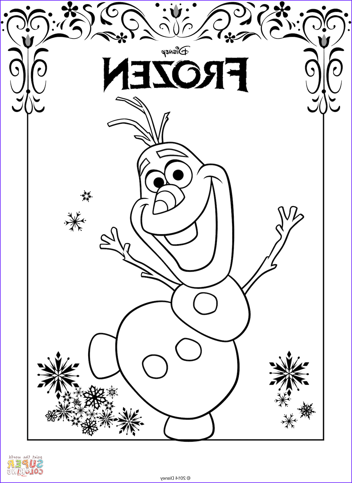Olaf Coloring Page Free Awesome Photos Olaf From Frozen Coloring Page
