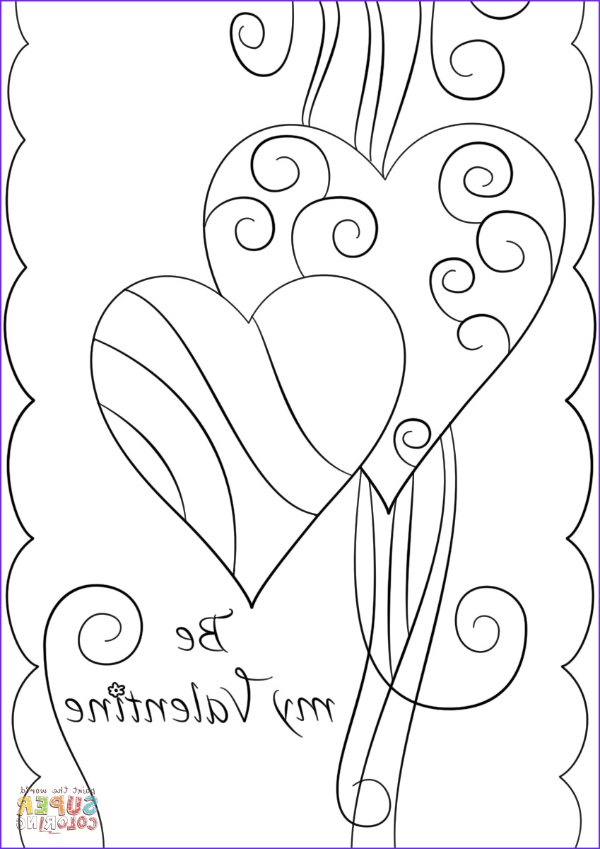 Valentines Day Coloring Cards Beautiful Images Valentines Day Cards Coloring Pages Kidsuki