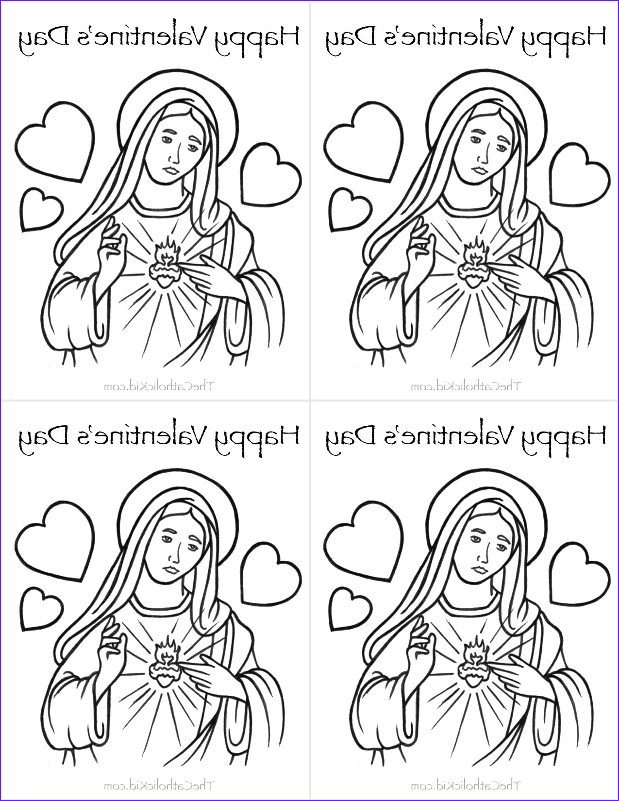 Valentines Day Coloring Cards Beautiful Photography Catholic Valentine S Day Cards to Color thecatholickid