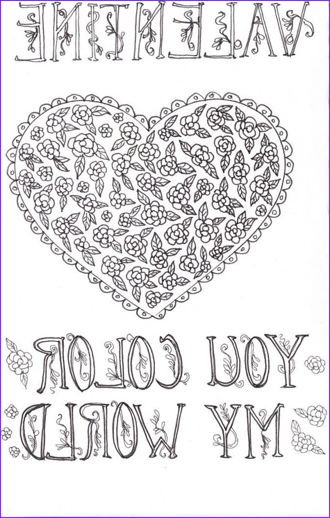 Valentines Day Coloring Cards Inspirational Photography Valentine Coloring Card Printable