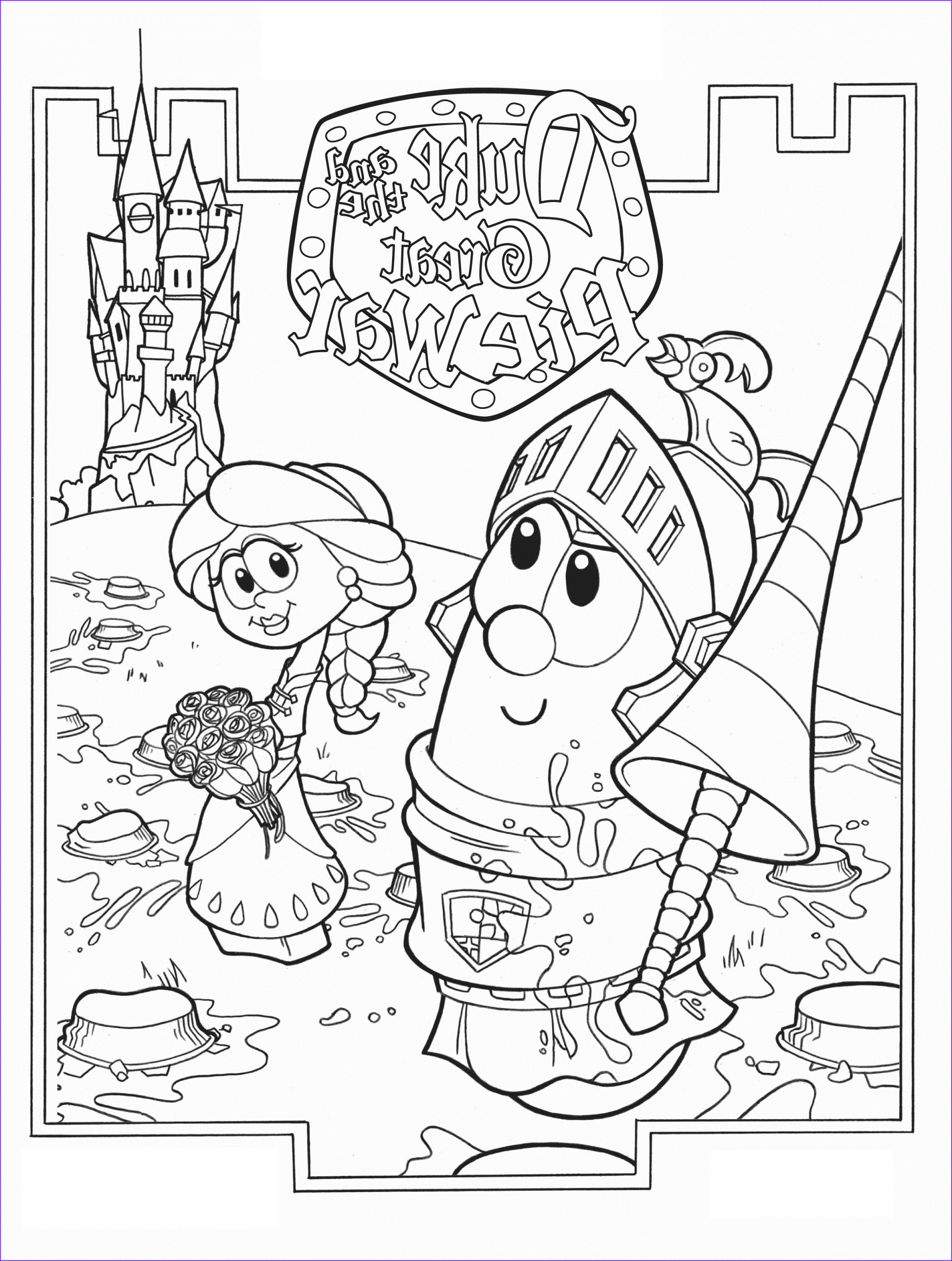 Veggie Tales Coloring Book New Photography Free Printable Veggie Tales Coloring Pages for Kids