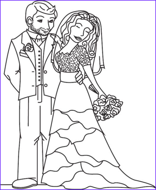 Wedding Themed Coloring Page Best Of Images Bride And Groom In Modern Wedding Theme Coloring Sheet In