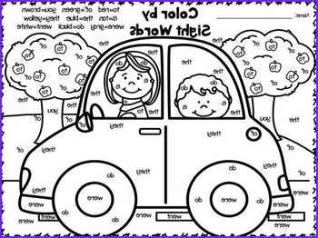 1st Grade Coloring Pages Best Of Photos Color by Sight Words Freebies Great for 1st 2nd Grades