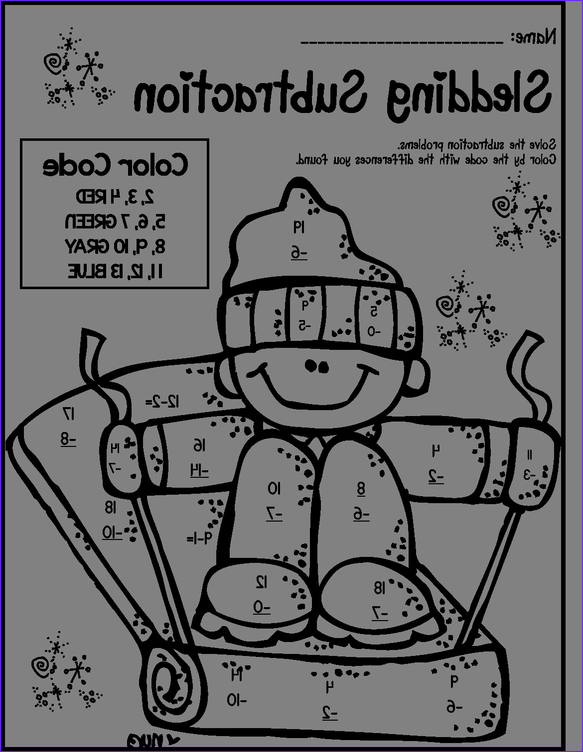 1st Grade Coloring Pages New Image Subtraction Coloring Sheets First Grade