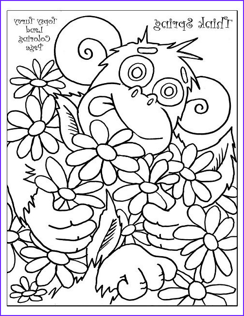spring coloring pages for first grade animal