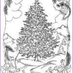 Adult Christmas Coloring Books Cool Gallery Christmas Tree Coloring Pages For Adults 2018 Dr Odd