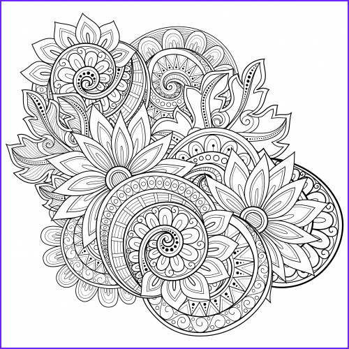 Adult Coloring Books Flowers Cool Photos Flowers Advanced Coloring Pages 17 Kidspressmagazine