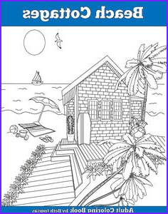 Adult Coloring Books for Sale Beautiful Photos Beach themed Page From Artist Barbara Ann Kenney S