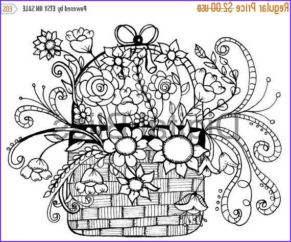 adult coloring pages whimsical basket of