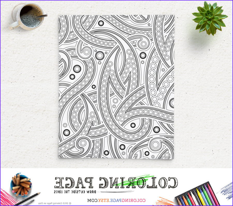 sale coloring page paisley adult