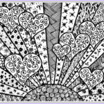 Adult Coloring Pages Free Beautiful Collection Heart To Color For Adult