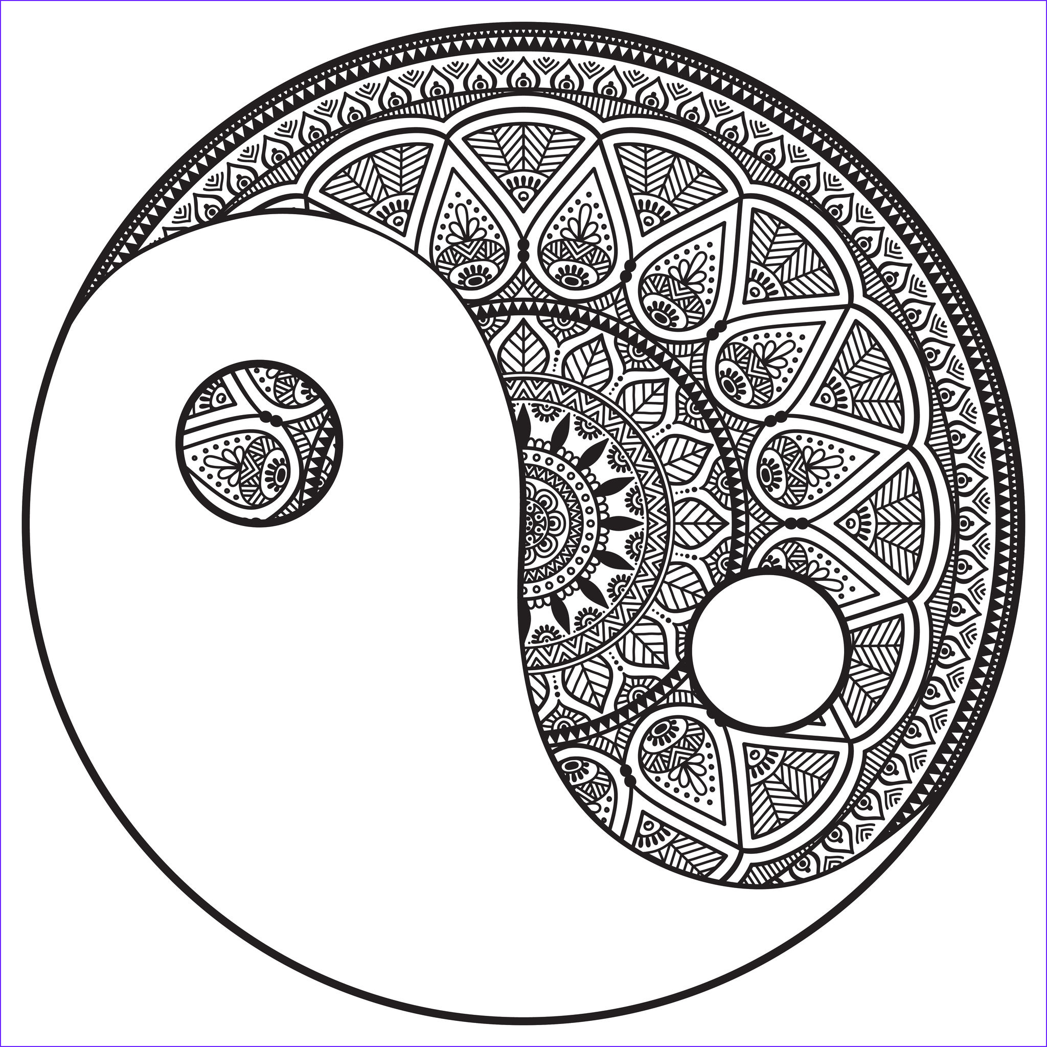 Adult Coloring Pages Mandalas Inspirational Collection Mandala Yin and Yang to Color M&alas Adult Coloring Pages