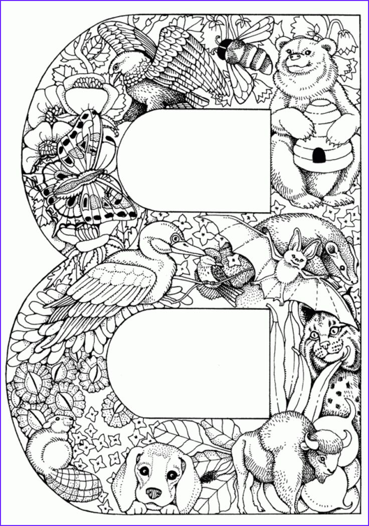 Alphabet Coloring Pages Pdf Cool Gallery 42 Best Images About Adult Color Pages On Pinterest
