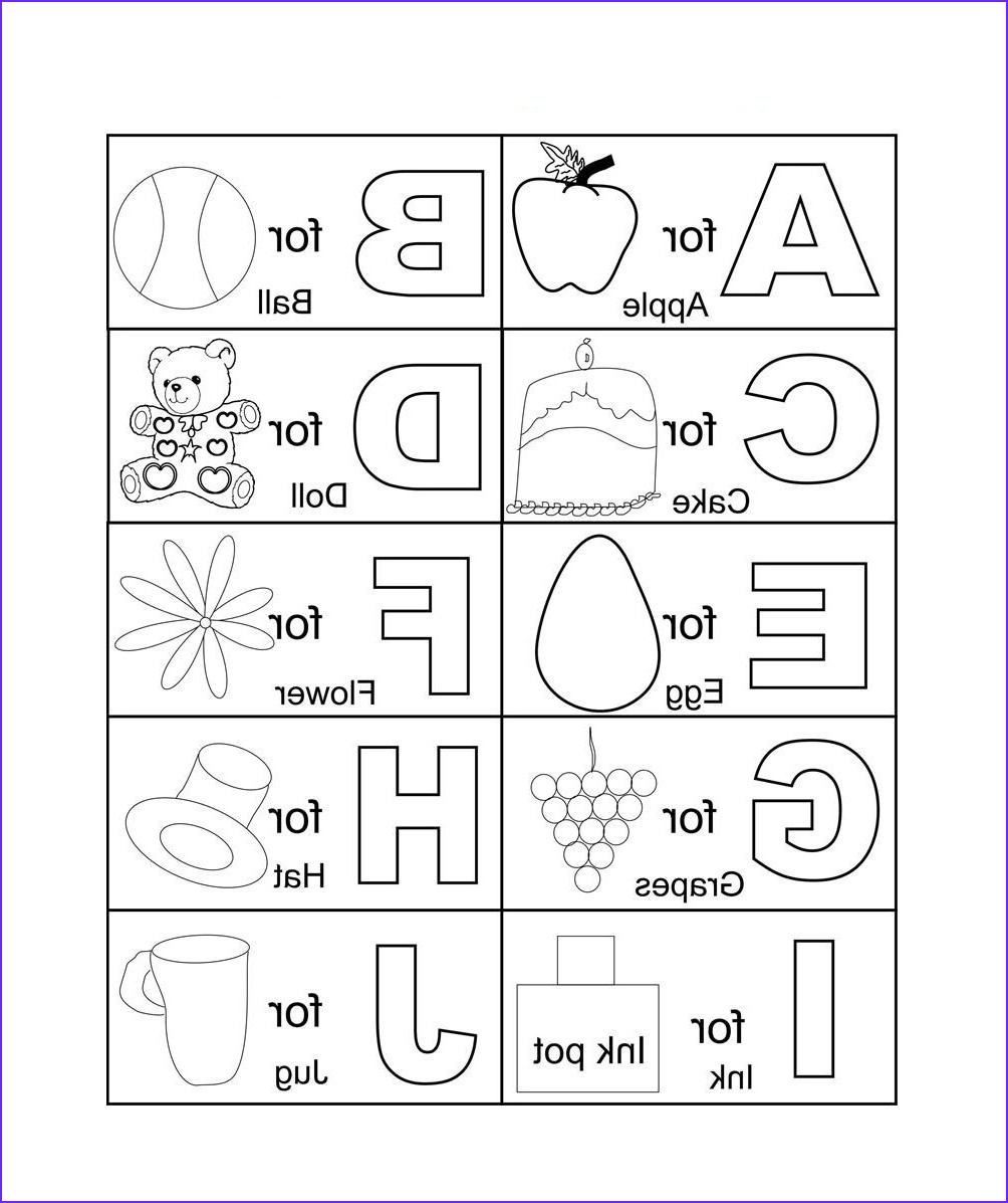 Alphabets Coloring Sheets Awesome Collection Free Printable Abc Coloring Pages for Kids