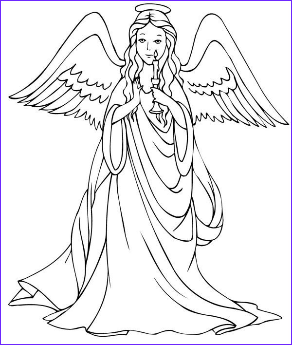 Angel Coloring Book Cool Gallery Free Printable Angel Coloring Pages for Kids