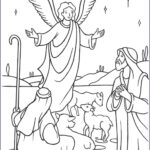 Angel Coloring Book Elegant Collection Angels Shepherds Gloria Coloring Page