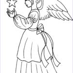 Angel Coloring Book Inspirational Photography Christmas Angel Girl With Star Coloring Page