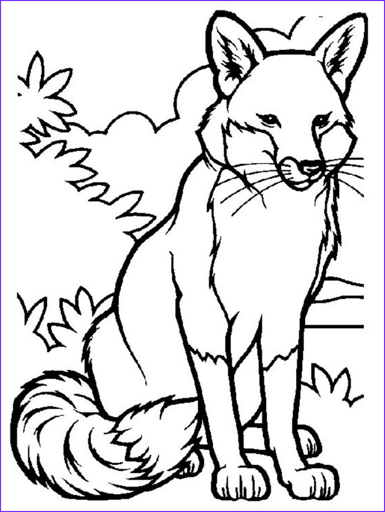 Animal Coloring Pictures Beautiful Gallery Free Printable Fox Coloring Pages for Kids