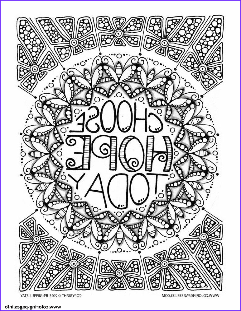 adult anti stress jennifer choose hope today printable coloring pages book