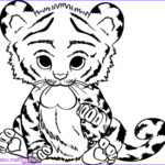 Baby Animal Coloring Pages Awesome Images How To Draw A Baby Tiger Step By Step Rainforest Animals