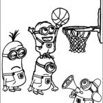Basketball Coloring Page Beautiful Gallery Minion Playing Basketball Coloring Pages
