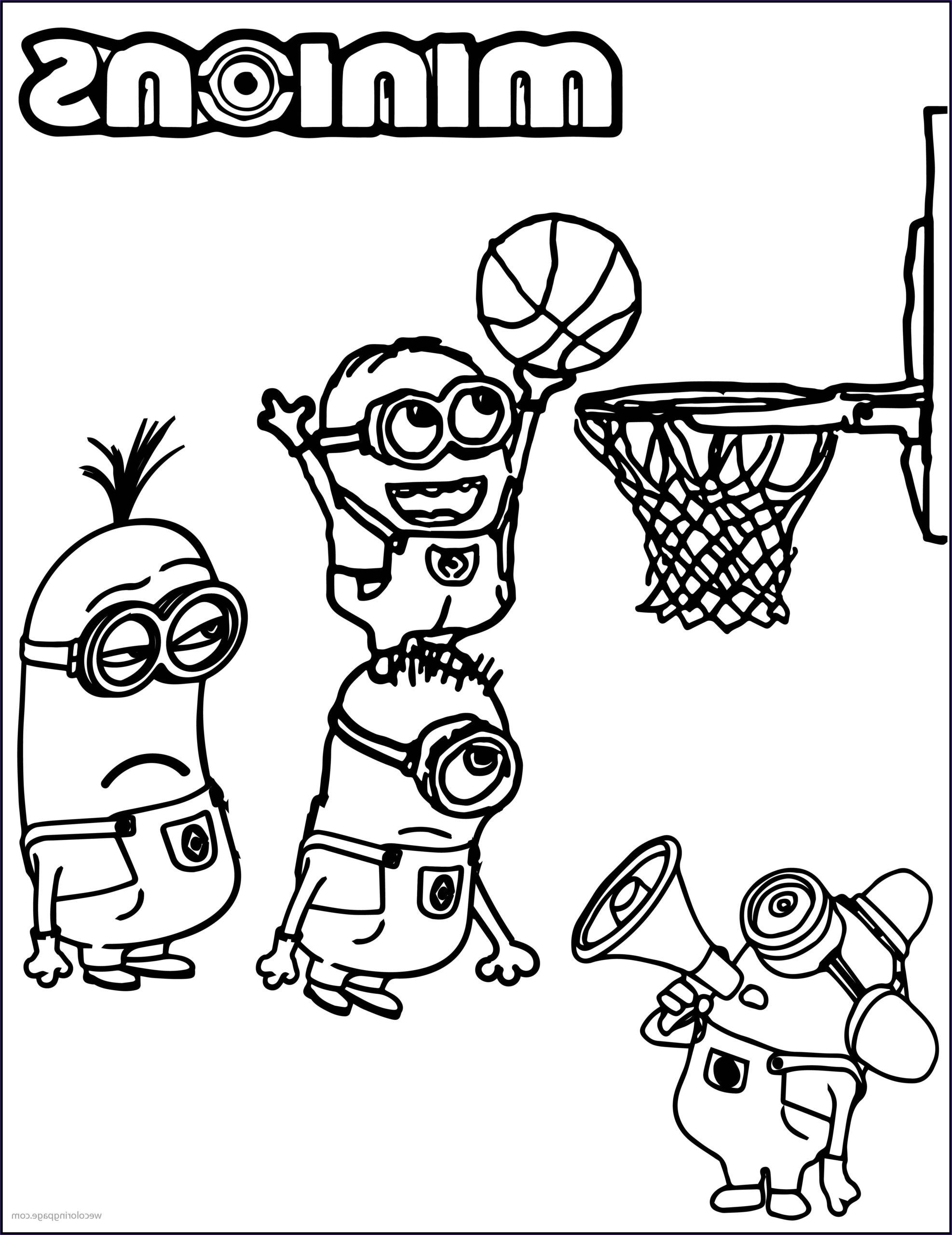 Basketball Coloring Page Luxury Gallery Minion Playing Basketball Coloring Pages