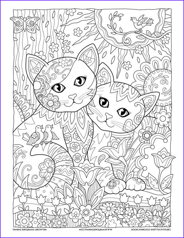 Best Adult Coloring Book Cool Photos Best Friends Creative Kittens Coloring Book by Marjorie