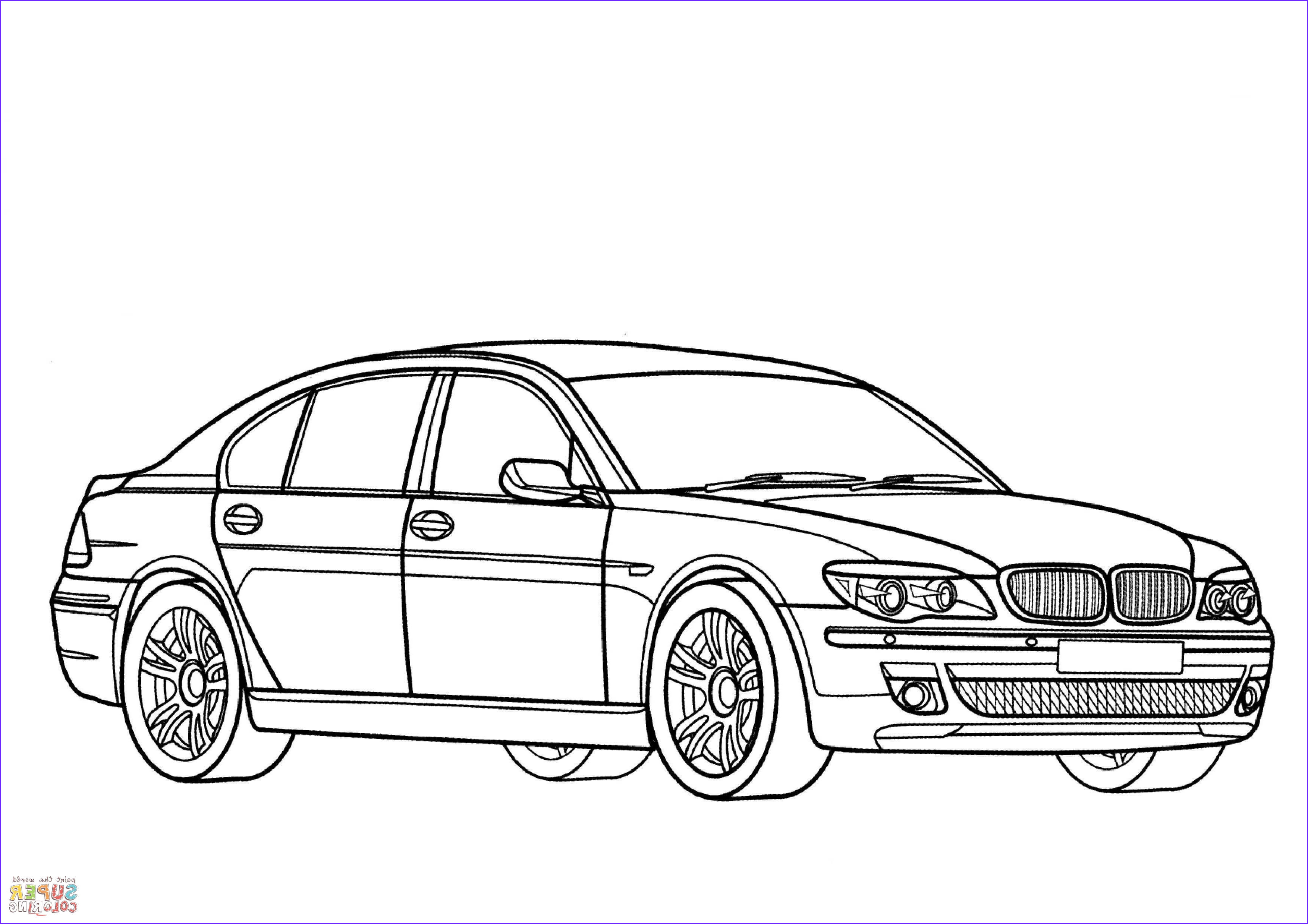 BMW 7 Series coloring page