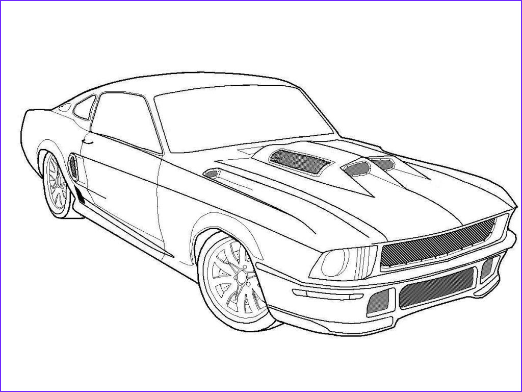 Car Coloring Pages Inspirational Gallery Free Printable Mustang Coloring Pages for Kids