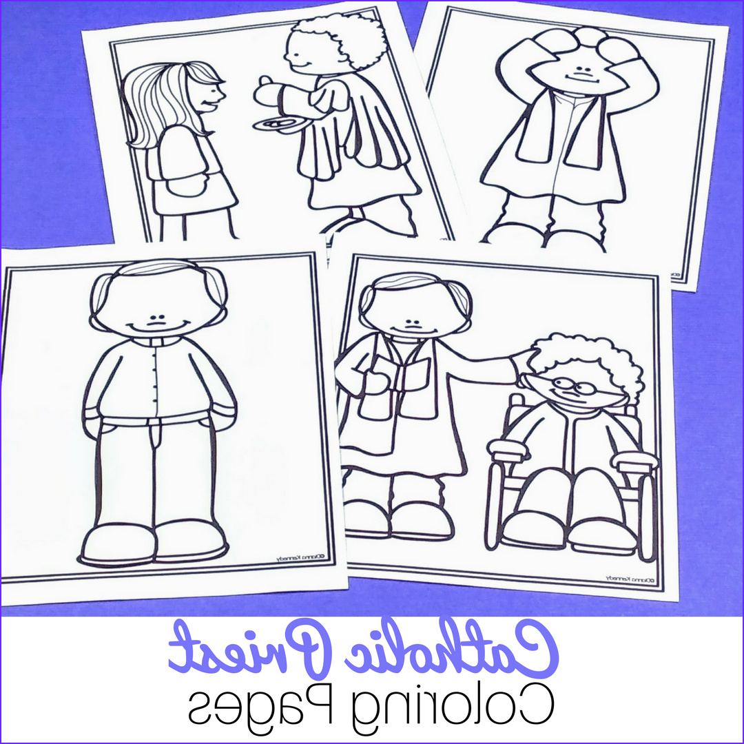 Priest Coloring Pages for Catholic Kids No Prep Just
