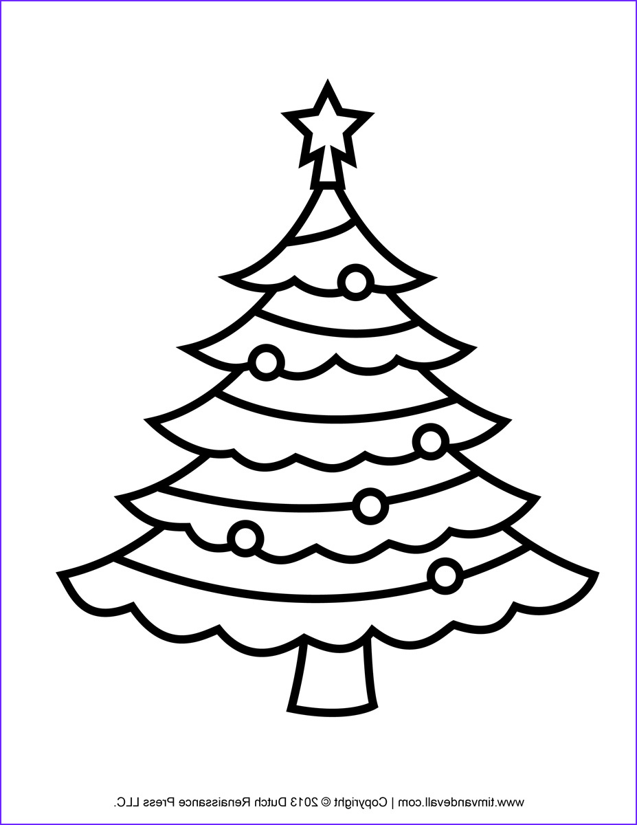 christmas tree template clip art