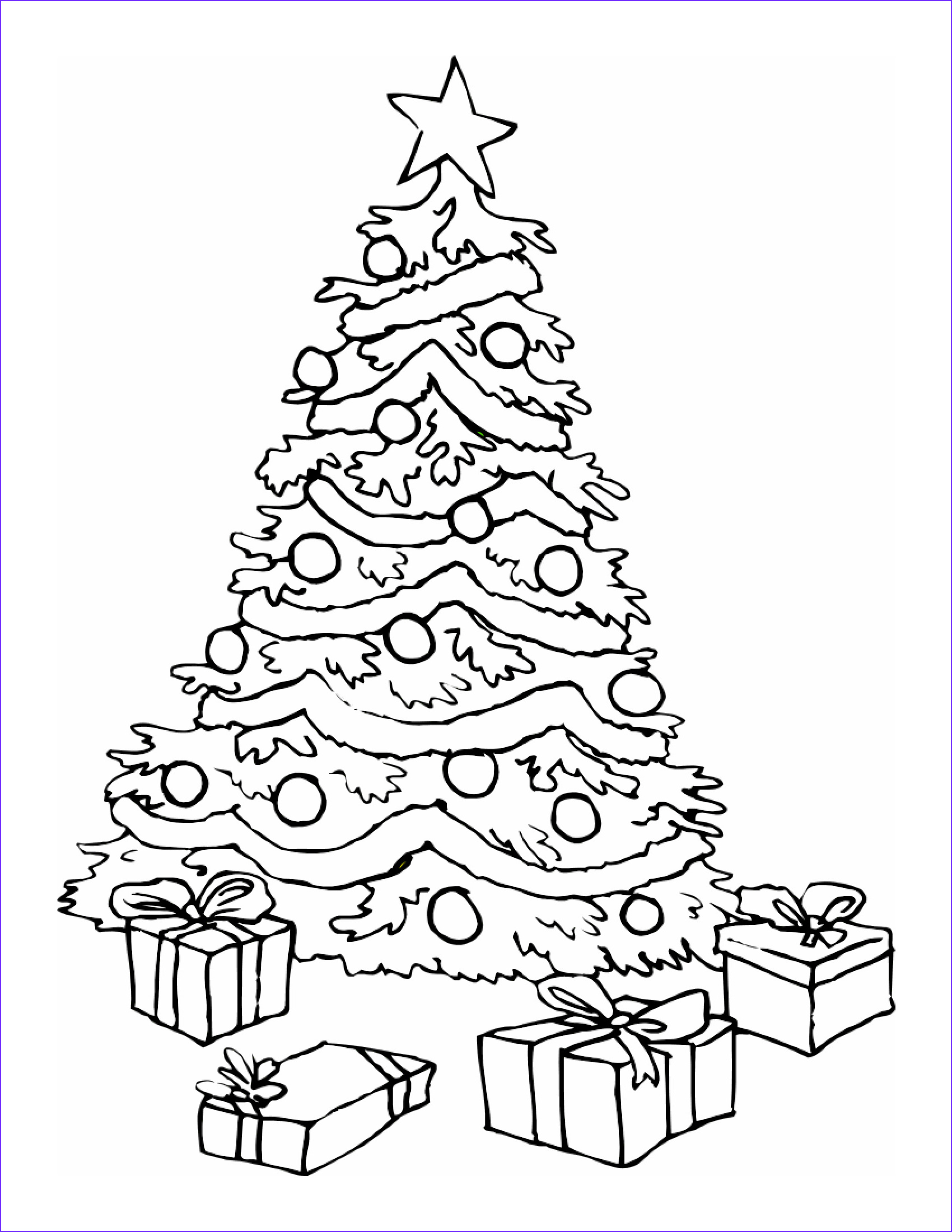 Christmas Tree Coloring Luxury Image Crafts