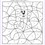 Color By Number Coloring Pages Free Awesome Images Easy Color By Number For Preschool And Kindergarten