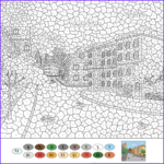 Color by Numbers Coloring Book Best Of Image Old town Street Color by Number