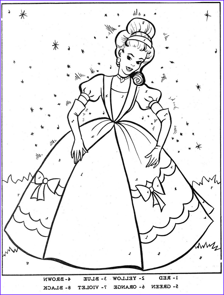 Color by Numbers Coloring Book New Collection Color by Number Cinderella