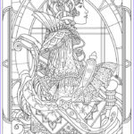 Coloring Art For Adults Cool Image Queen Art Nouveau Style Art Nouveau Adult Coloring Pages