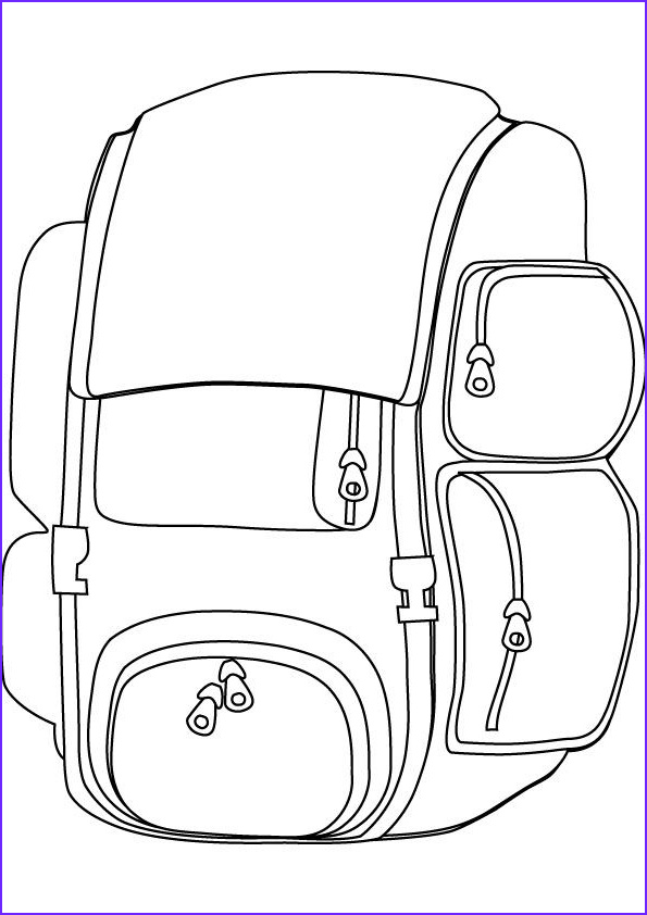Backpack Coloring Page craft ideas