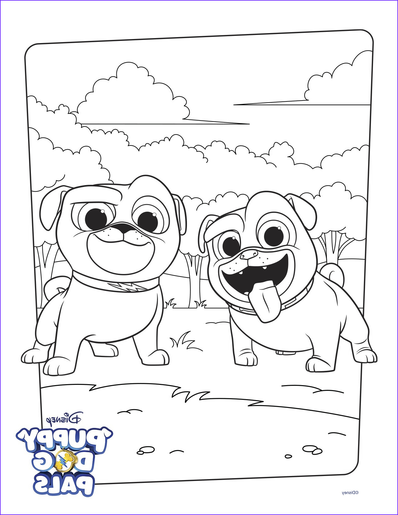 Bingo and Rolly Coloring Page Activity