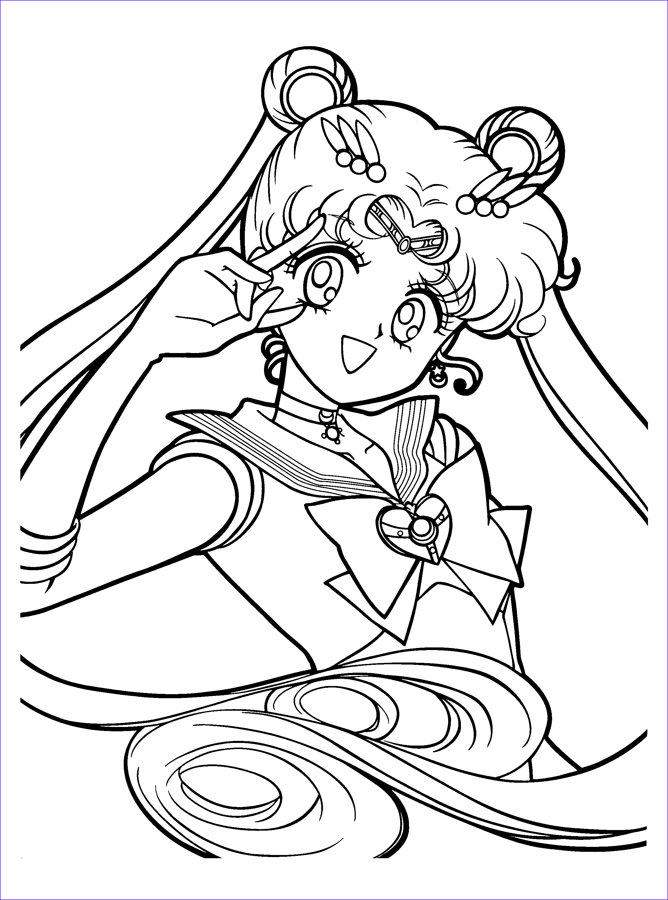 Sailor Moon Crystal Coloring Pages Download
