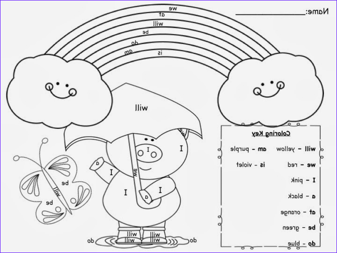 Sight Word Coloring Pages coloringsuite