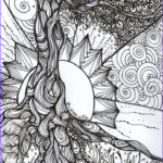 """Coloring Books Adults Inspirational Photos """"tree Of Life"""" Pen And Ink Adult Colouring Book Series"""