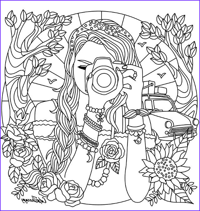 Coloring Books for Teenage Girls Beautiful Images Camera Coloring Pages Girl with A Camera Coloring Page