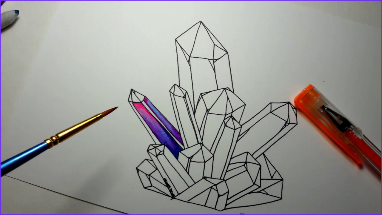 Coloring Crystals New Photos Coloring Crystals with Gel Pens