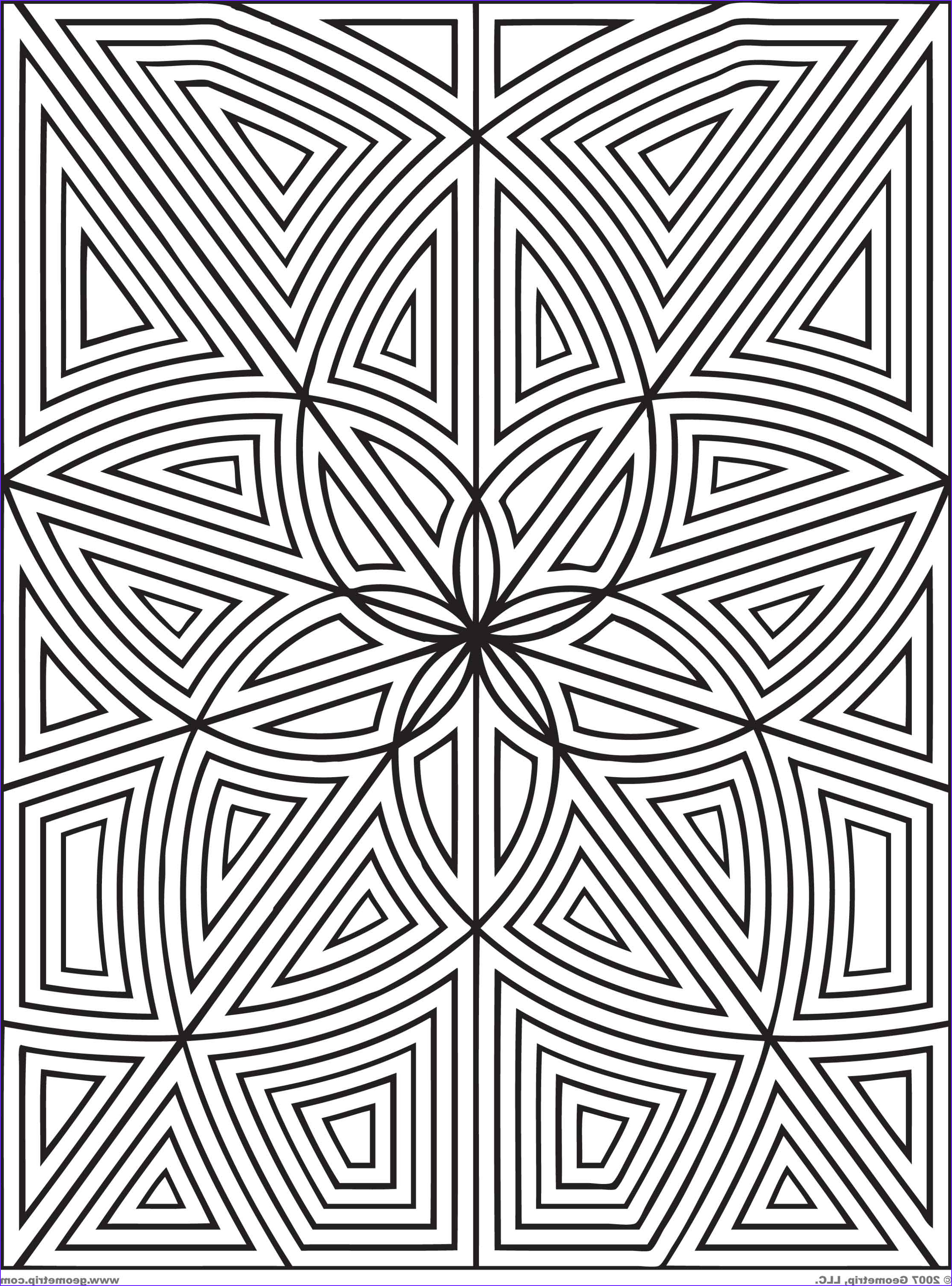 Coloring Design Pages Beautiful Photos Geometric Coloring Pages Bestofcoloring