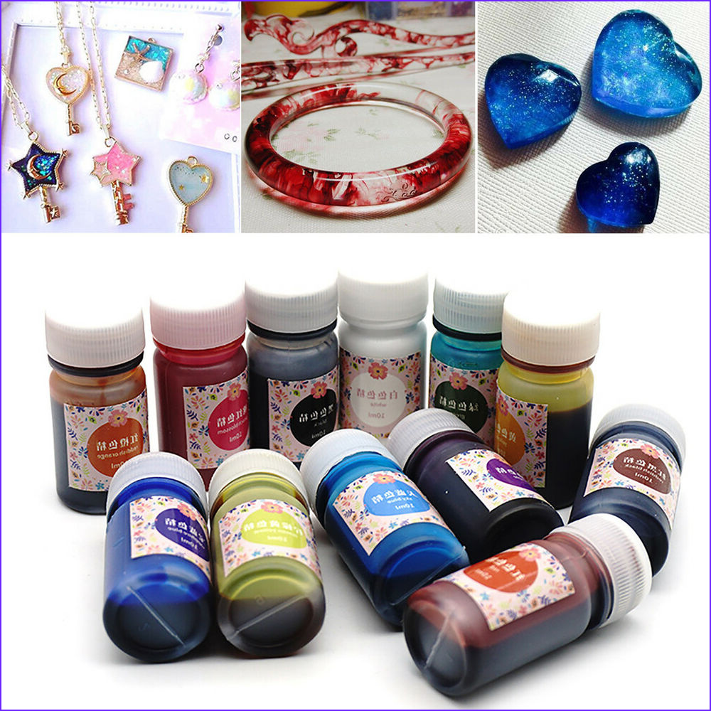 Coloring Epoxy Awesome Gallery 12 Bottle 10g Mix Color Epoxy Uv Resin Coloring Dye