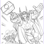 Coloring Free Awesome Images Free Printable Thor Coloring Pages For Kids