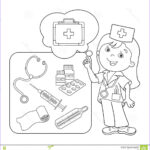 Coloring Kit Unique Collection Coloring Page Outline Cartoon Doctor with First Aid Kit