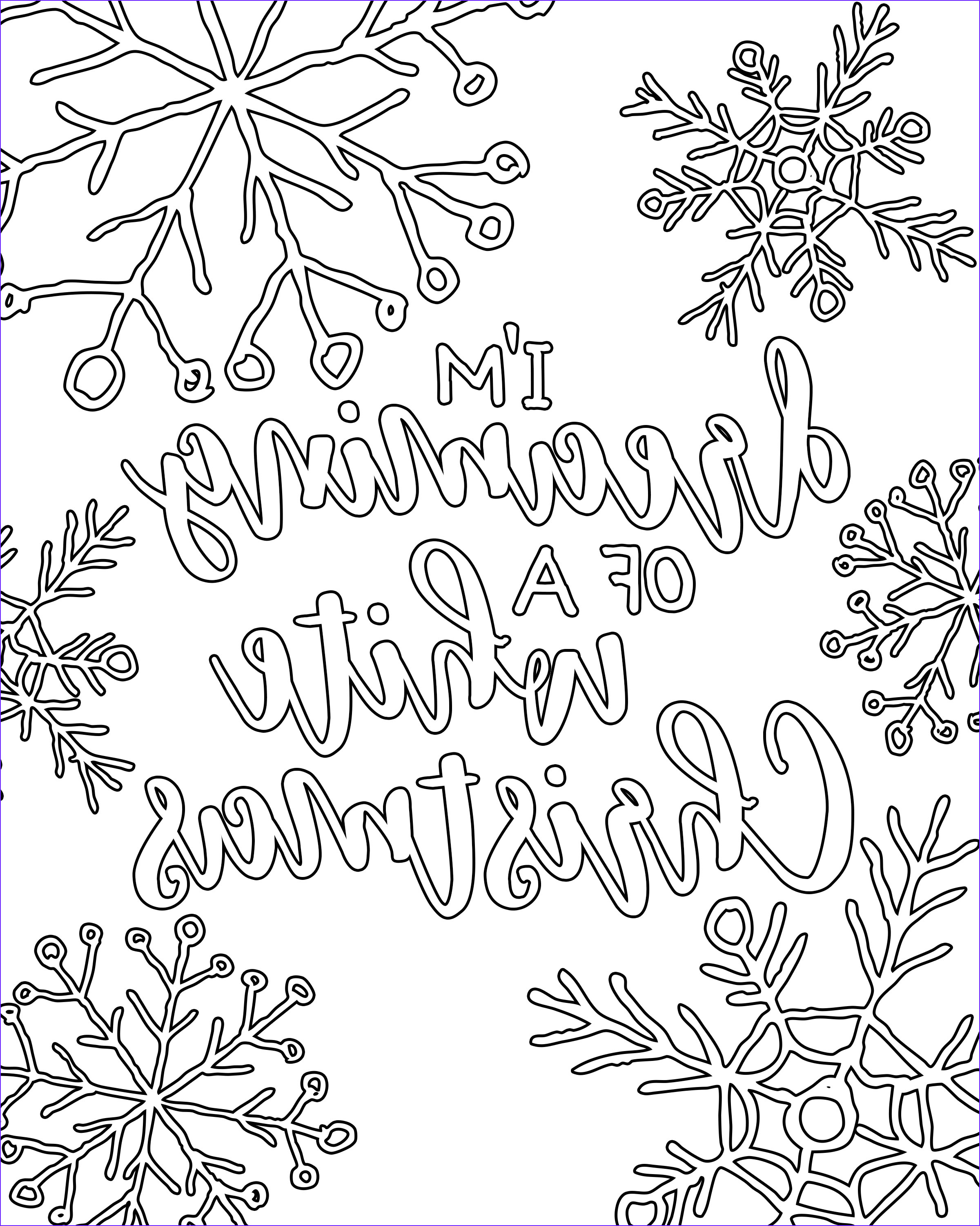Coloring Pages Christmas Beautiful Images Free Printable White Christmas Adult Coloring Pages Our