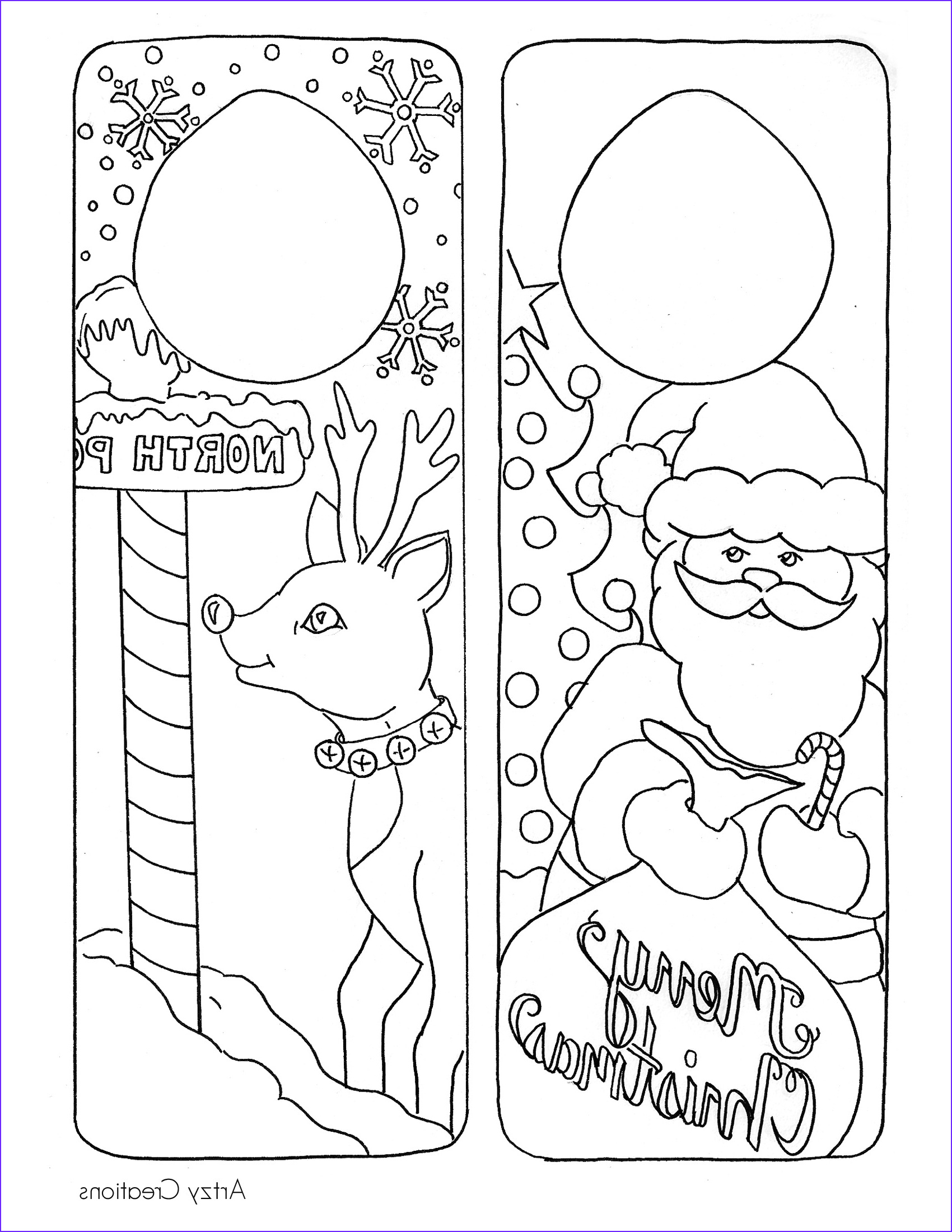 Coloring Pages Christmas Elegant Photos Christmas Coloring Page Door Hanger Printables the