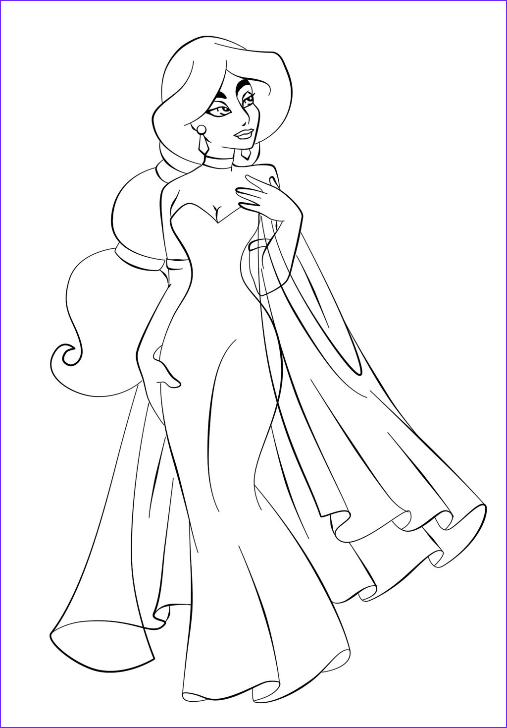 Coloring Pages for Free Beautiful Gallery Free Printable Jasmine Coloring Pages for Kids Best
